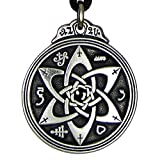 Pewter Talisman for Poets Writers and Actors Pentacle Pendant - 1.25 Inch Diameter