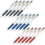 Zebra SARASA Mark on Gel ink ballpoint pens ink 3color set (black,blue,red) 0.5mm total 15 with DAVINCIPEN Silicon Pen Holder color black