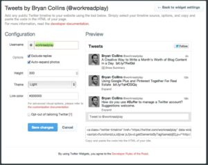 Configure your Twitter widget and embed it onto your website